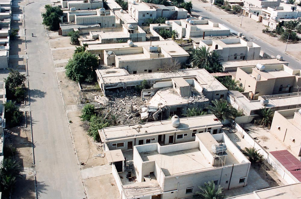Destruction of Failaka Island  A home destroyed by Iraqi target practice