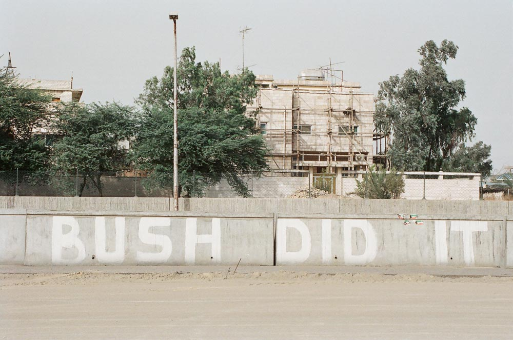 Kuwaiti Graffiti  Graffiti reflecting liberation joy and gratitude to US President Bush